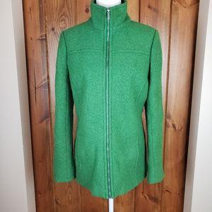 Land's End Kelly Green Boiled Wool Jacket, sz 12T